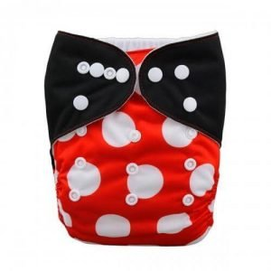Alva baby reusable OSFM cloth nappy Mini Mouse front yd70