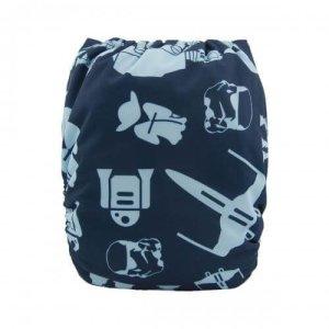 Alva baby reusable OSFM cloth nappy star wars back h091