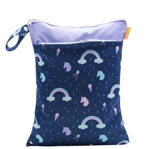 Rainbows Unicorns Wet Bag 30x40