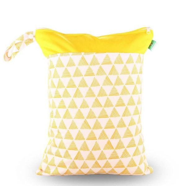 Yellow Triangles Wet Bag 30x40