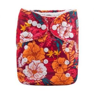 alva baby OSFM pocket nappy autumn bloom front h113