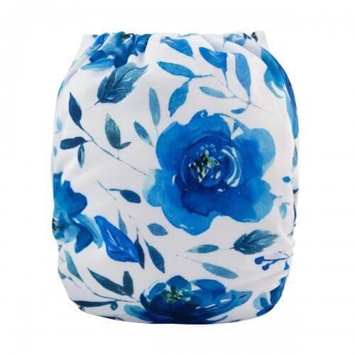 alva baby OSFM pocket nappy baileys blue hue back h104