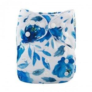 alva baby OSFM pocket nappy baileys blue hue front h104