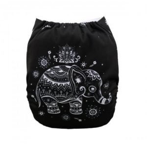 alva baby OSFM pocket nappy bali elephant back yd33