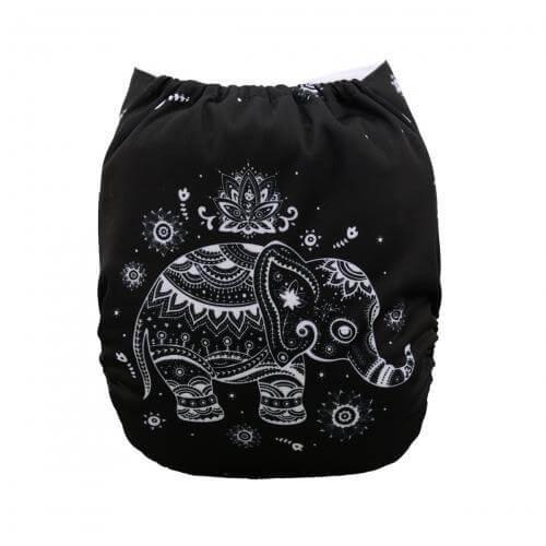 alva baby OSFM pocket nappy bali elephant back yd33