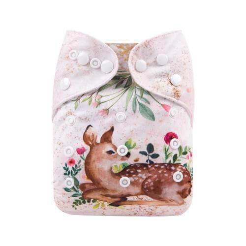 alva baby OSFM pocket nappy bambi front yd191