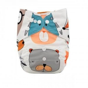 alva baby OSFM pocket nappy bear bum yd07