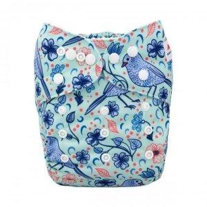 alva baby OSFM pocket nappy blue bird front