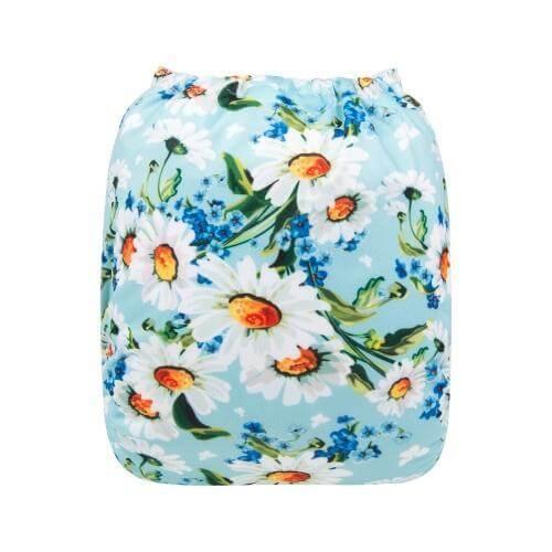 alva baby OSFM pocket nappy daisy back h162