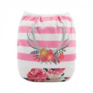alva baby OSFM pocket nappy desert rose back yd159