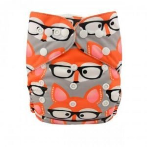 alva baby OSFM pocket nappy foxie shades yd18