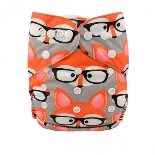 alva baby OSFM pocket nappy foxie shades yd18