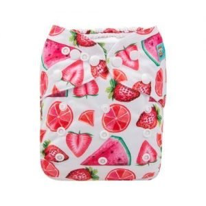 alva baby OSFM pocket nappy fruit punch front h yk49