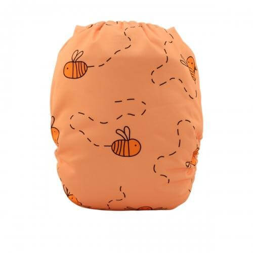 alva baby OSFM pocket nappy honey pot bacl yd17