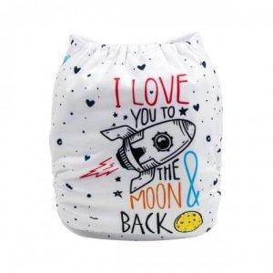 alva baby OSFM pocket nappy i love you back yd179