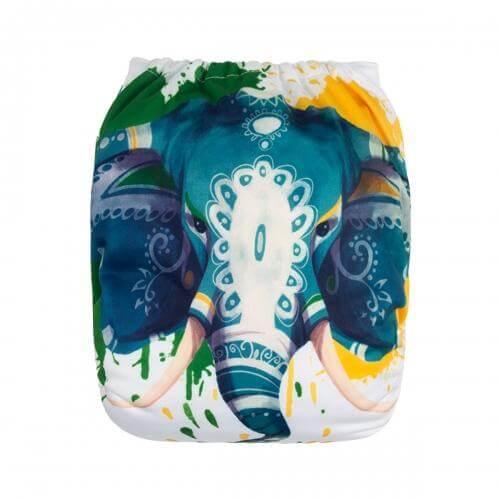 alva baby OSFM pocket nappy indian elephant back yd181