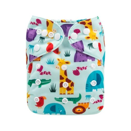 alva baby OSFM pocket nappy jungle patrol front h160