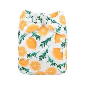 alva baby OSFM pocket nappy lemonade front