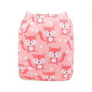alva baby OSFM pocket nappy lil fox back yd194