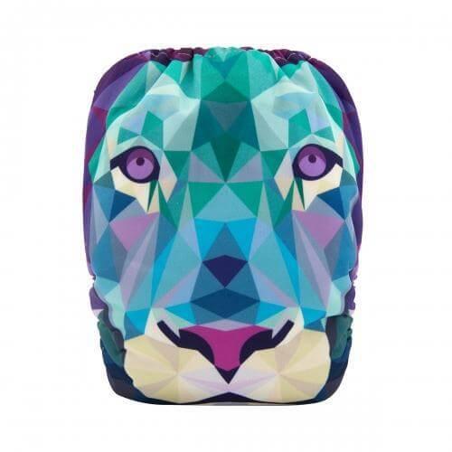 alva baby OSFM pocket nappy lioness back yd111