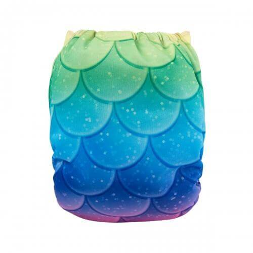 alva baby OSFM pocket nappy mermaid scales back yd172