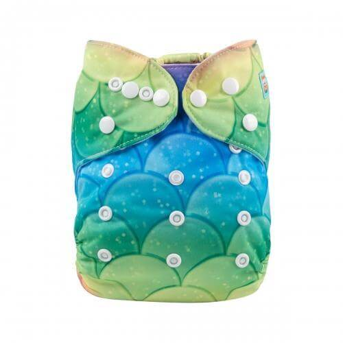 alva baby OSFM pocket nappy mermaid scales yd172