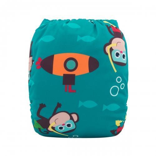 alva baby OSFM pocket nappy monkey sea monkey do back h092