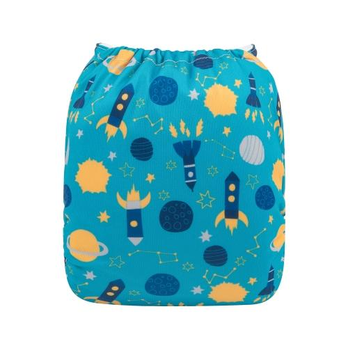 alva baby OSFM pocket nappy nasa back