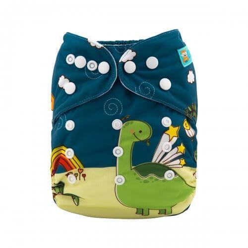 alva baby OSFM pocket nappy paleo front yd106