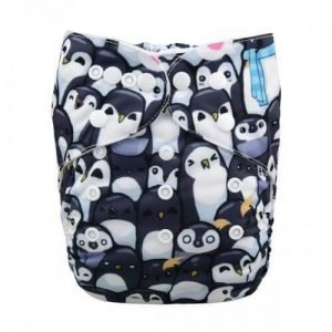 alva baby OSFM pocket nappy penguins of madagascar front yd76