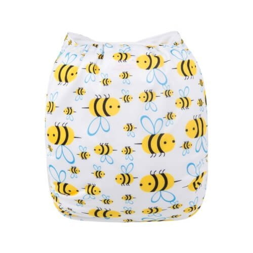 alva baby OSFM pocket nappy pooh bear back h117