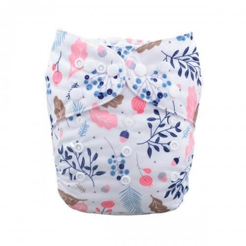 alva baby OSFM pocket nappy spring blossom front h050