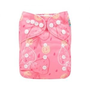alva baby OSFM pocket nappy strawberry love h164