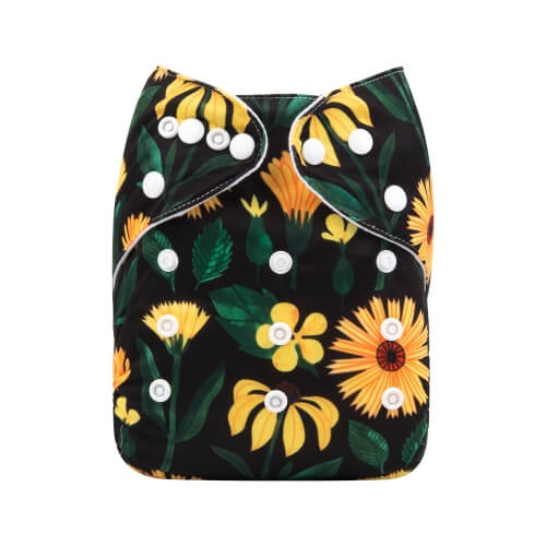 alva baby OSFM pocket nappy sunflower yd193