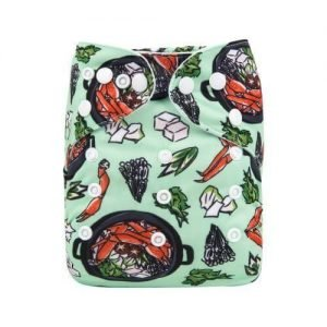 alva baby OSFM pocket nappy sushi front h176