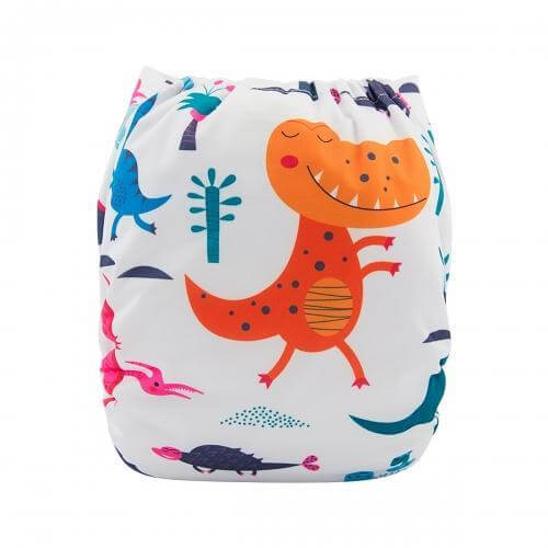 alva baby OSFM pocket nappy t rex back yd166