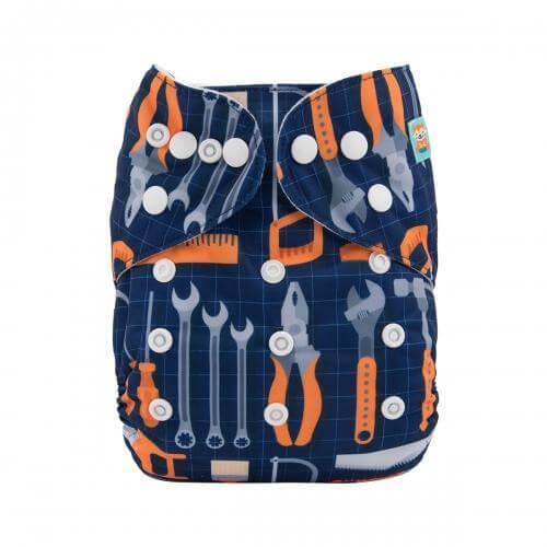 alva baby OSFM pocket nappy tim the tool man front h095