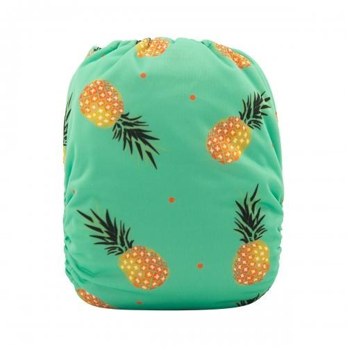 alva baby OSFM pocket nappy tropicana back h074