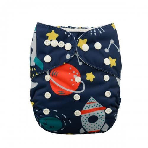 alva baby OSFM pocket nappy william front yd30