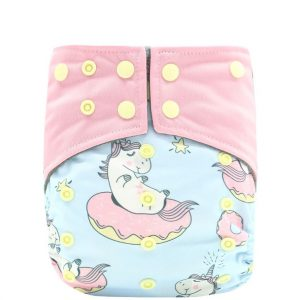 bamboo charcooal OSFM pocket nappy dont stop believing ef208