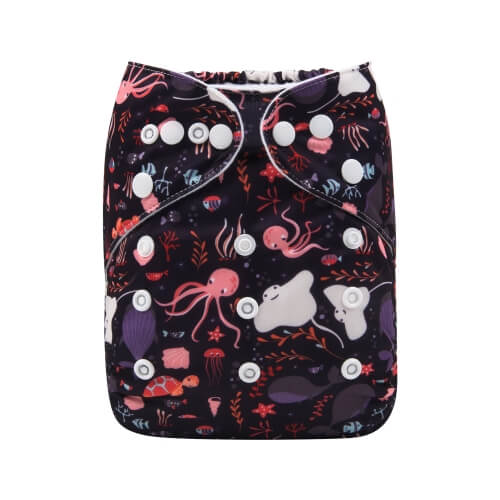 alva baby OSFM pocket nappy squid front h195