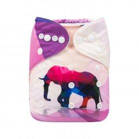 alva baby OSFM pocket nappy ydp03 front ruby