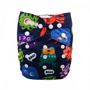 alva baby OSFM pocket nappy monster v alien front h041